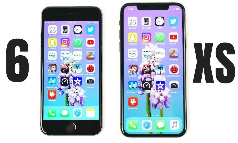 iPhone 6 VS iPhone XS